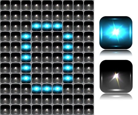 Figure made of flash lights   Vector