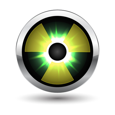 Metal glowing radiation icon illustration Vector