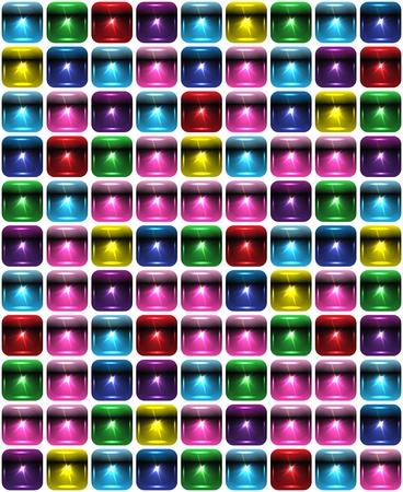 Tetris seamless background made of spotlights illustration Vector