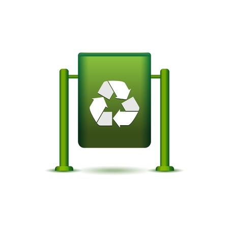 wastebasket: Wastebasket icon isolated on white, vector illustration, eps10