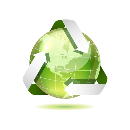 Ecological icon of earth, vector illustration, eps10