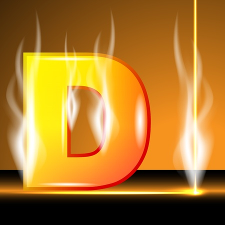 decorative letter: Hot alphabet of devils