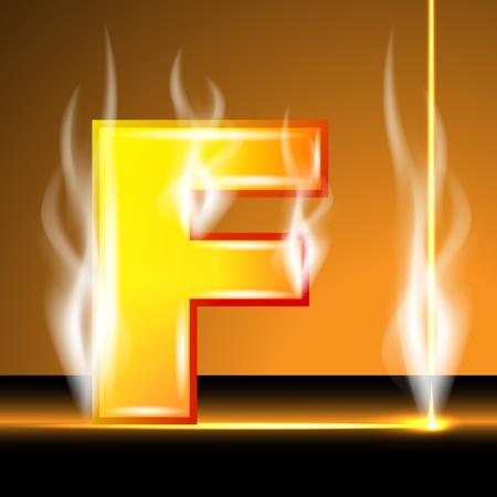 Hot alphabet of devil Stock Vector - 13152915