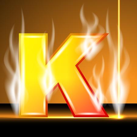 flame letters: Hot alphabet of devil