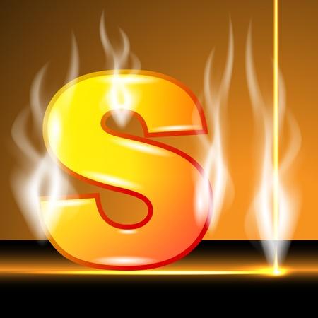 Hot alphabet of devil Vector