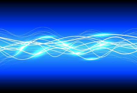 Abstract magic light on blue