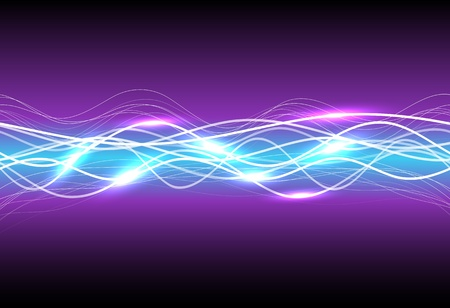 Abstract magic light on purple Vector