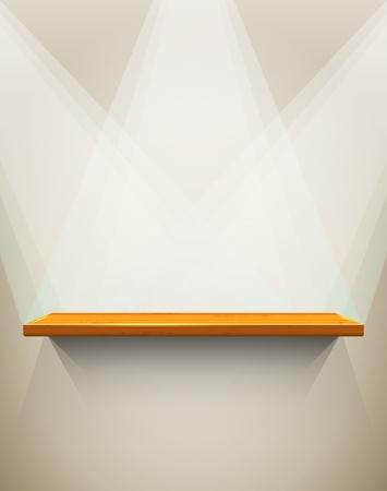 �tag�re bois: Plateau en bois avec place pour votre exposition