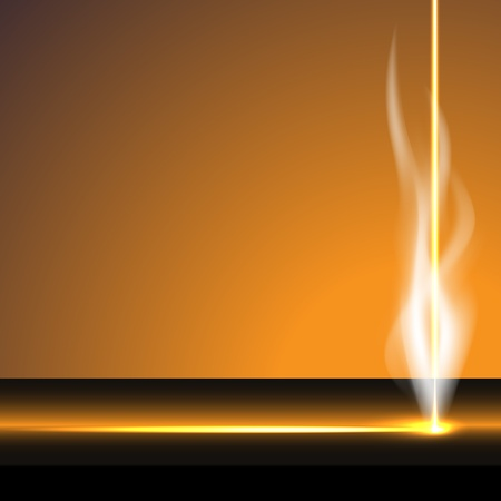 light beams: Laser cutter, smoke, vector illustration, eps10, easy editable, 2 layers