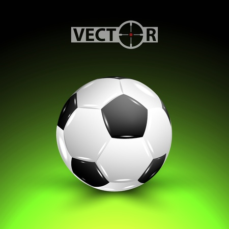 Vector soccer ball with shadow on field, vector illustration, eps10, 3 layers Vector