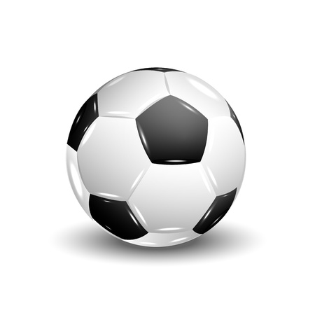 Isolated vector soccer ball with shadow , vector illustration, eps10, 2 layers Vector