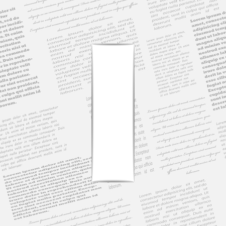 derived: Derived letter on newspaper background. Seamless newspaper pattern included  Illustration