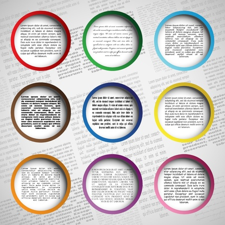 Circle design for your web site Stock Vector - 14580308