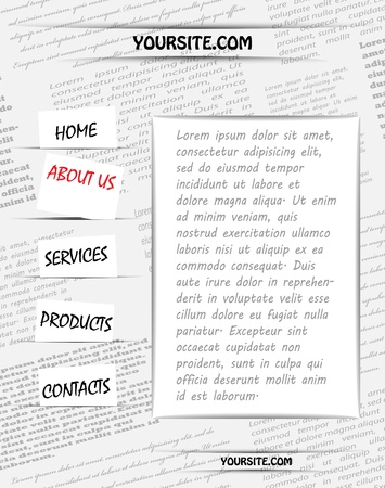 Newspaper design for your site Ilustracja