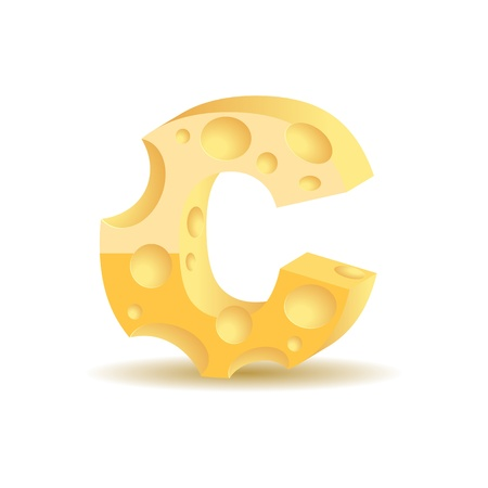 Letter made of cheese Vector
