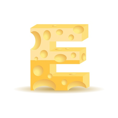 Letter made of cheese (see other cheese characters in my portfolio Vector