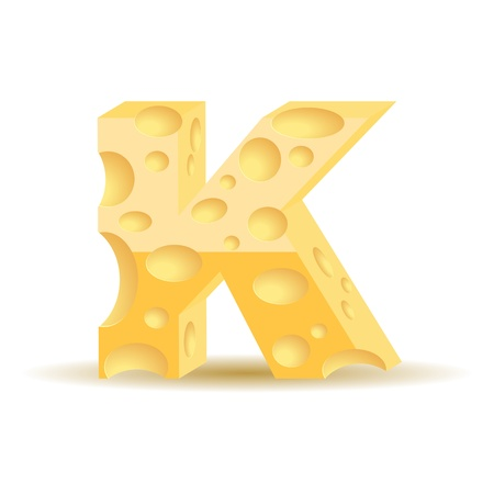 Letter made of cheese  see other cheese characters in my portfolio Vector