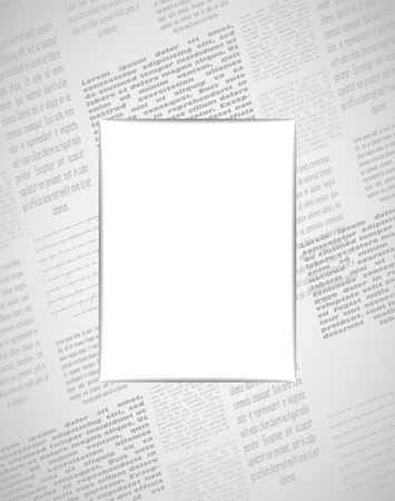 Newspaper frame, 2 layers Stock Vector - 14688824