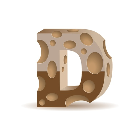 aerated: Letter made of chocolate (see other chocolate characters in my portfolio, transparent shadow