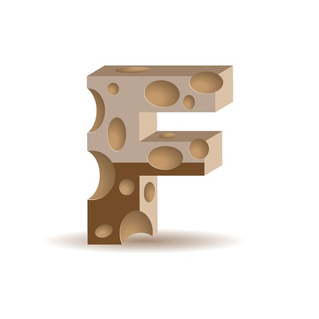 Letter made of chocolate (see other chocolate characters in my portfolio), transparent shadow Vector