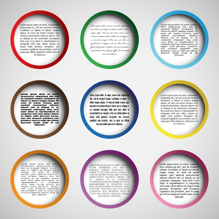 web page elements: Circle design for your web site, 3 layers