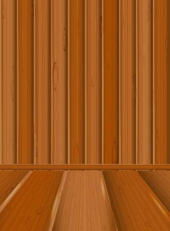 Wooden inter Stock Vector - 15013429