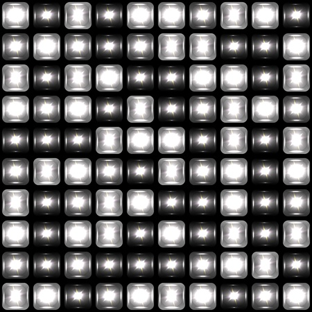 Seamless background made of spotlights Vector