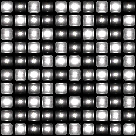 tetris: Seamless background made of spotlights Illustration