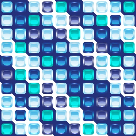 Blue mosaic seamless background, vector illustration, eps10, 6 layers! Vector