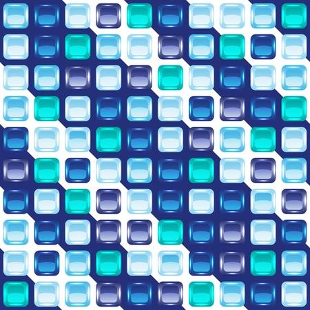bad fliesen: Blue mosaic seamless background, Vektor-Illustration, eps10, 6 Lagen!