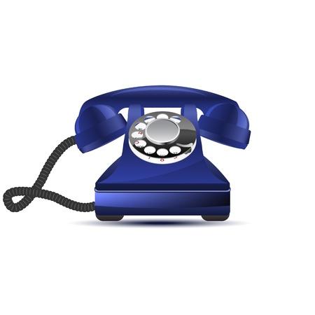 cable telefono: Teléfono retro brillante