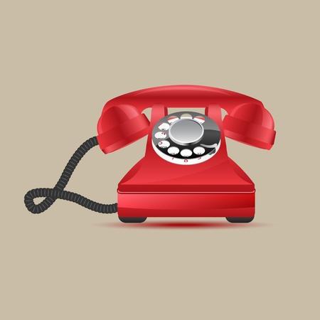 Glossy retro phone