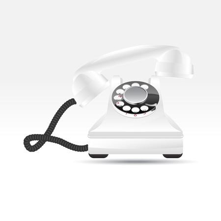 Glossy retro phone Stock Vector - 15013476