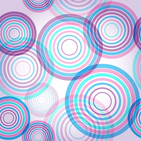 Abstract seamless background made of set of rings Stock Vector - 15013488