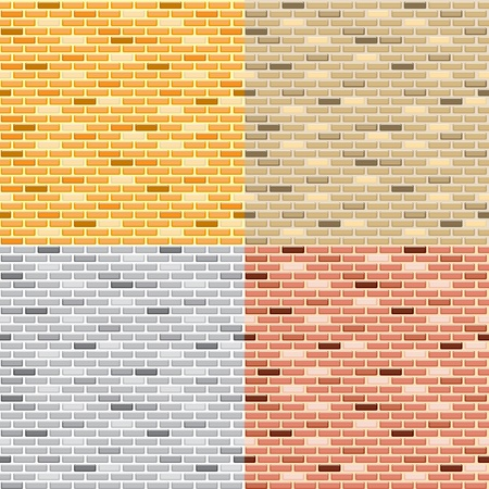 Seamless brick wall Stock Vector - 15390532