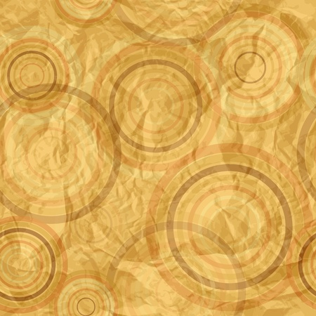 crumpled paper ball: Abstract circle retro pattern