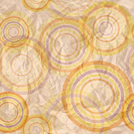 Abstract circle retro pattern Stock Vector - 15390537