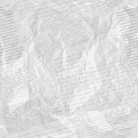 Crumpled page of newspaper Stock Vector - 15406263