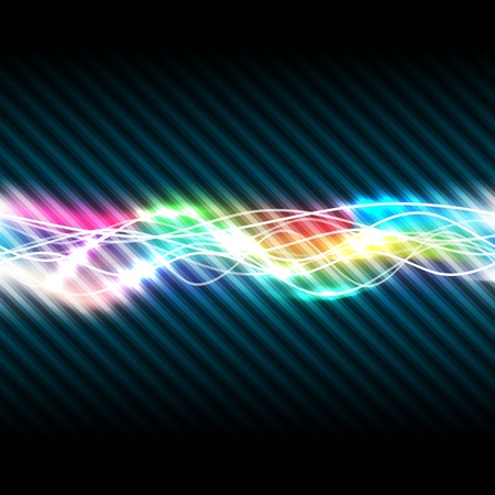 Abstract magic light of rainbow, vector illustration, eps10, 2 layers Vector