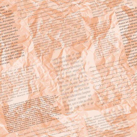 Crumpled page of newspaper, seamless pattern, vector illustration, eps10, 2 layers  TWO seamless patterns by the price of one   Easy editable  Vector