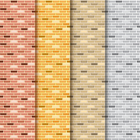 side light: Seamless brick wall