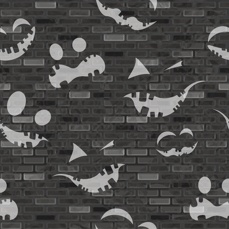 Halloween seamless pattern, vector illustration, eps10 Vector