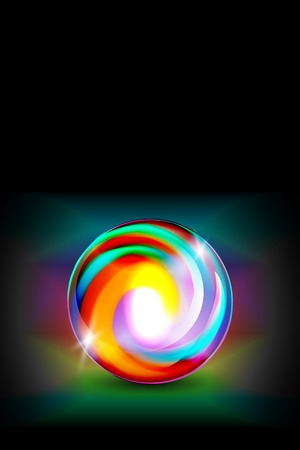 glowing ball: Abstract glowing ball for your design, vector illustration,  2 layers