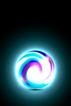 Abstract blue purple glowing ball for your design, vector illustration,  2 layers Vector