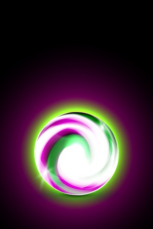 Abstract glowing ball for your design, vector illustration,  2 layers Vector