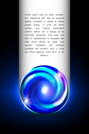 glowing ball: Abstract blue glowing ball for your design, vector illustration,  2 layers