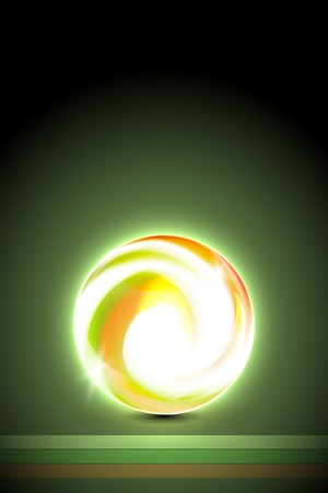glowing ball: Abstract green glowing ball for your design, vector illustration,  2 layers Illustration