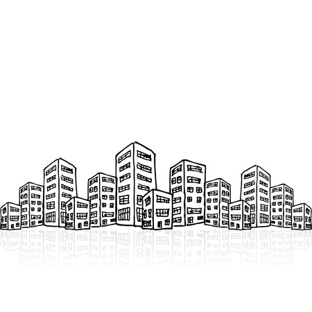 Cityscape sketch, vector illustration, eps10 Vector