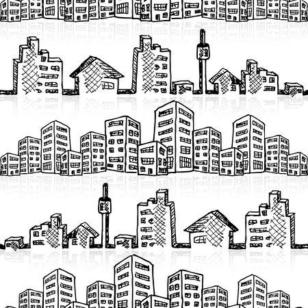 Cityscape sketch, vector illustration, eps10 Vector