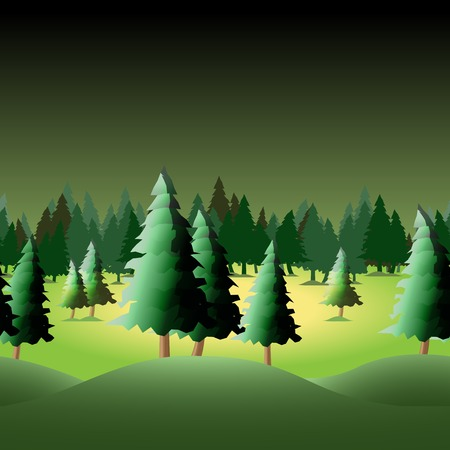 Seamless forest for your design, vector illustration, eps10 Vector